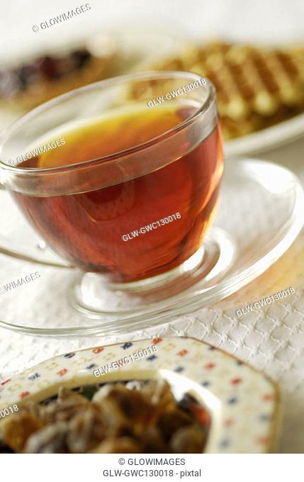 Close-up of a cup of black tea
