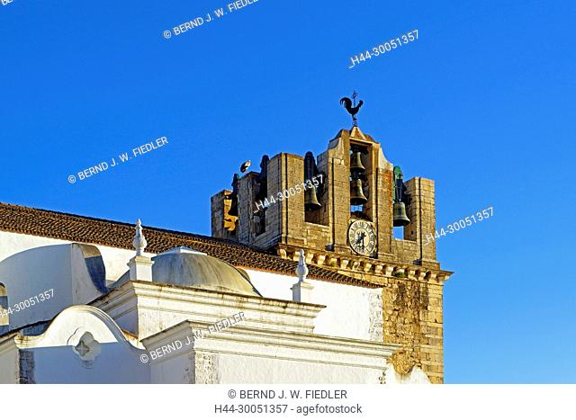 Sé Catedral de Faro, Igreja de Santa Maria, steeple, Faro Portugal