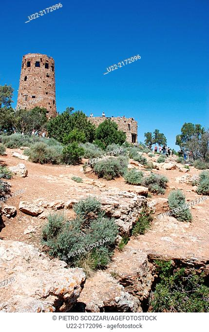 Arizona, U.S.A., America, Grand Canyon Village, Desert View Watchtower
