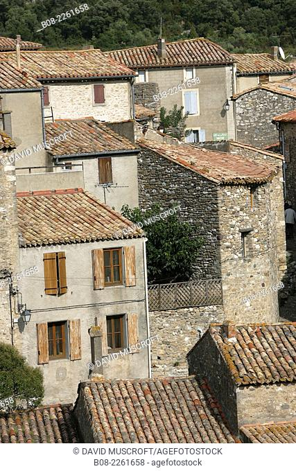 the mountain village of Minerve, Languedoc, southern France