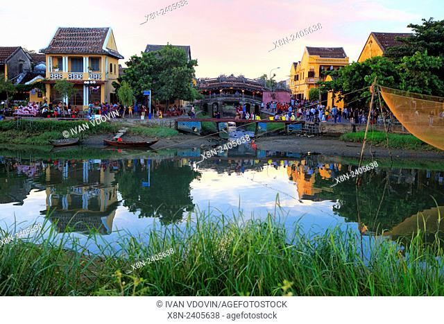 Evening in Hoi An, Thu Bon River, Vietnam