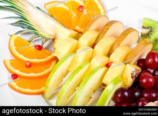 Fruit assortment closeup