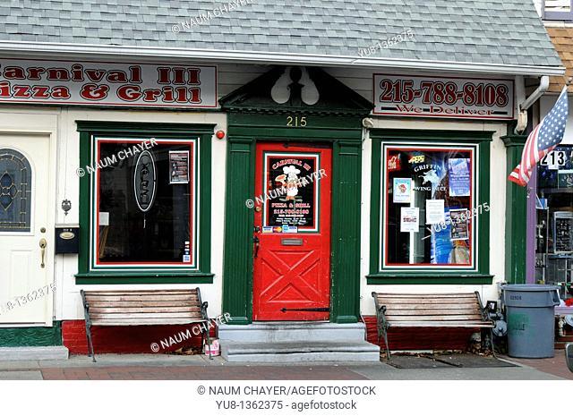 Pizza and Grill store, Bristol, Bucks County, Pennsylvania,USA,North America