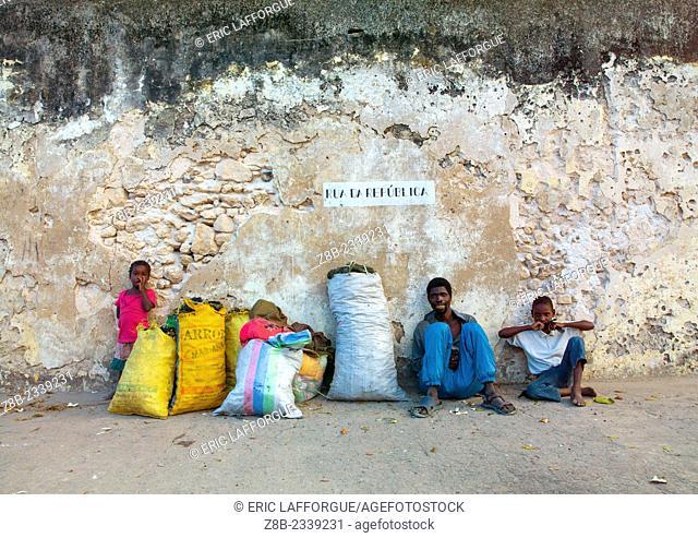People Selling Coal, Ibo Island, Mozambique