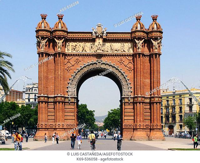 The Arc of Triumph. Barcelona. Spain