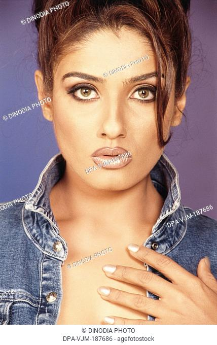 2001, Portrait of Indian film actress Raveena Tandon