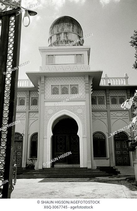 Tonson Mosque the oldest mosque in Bangkok in Thailand in Southeast Asia Far East