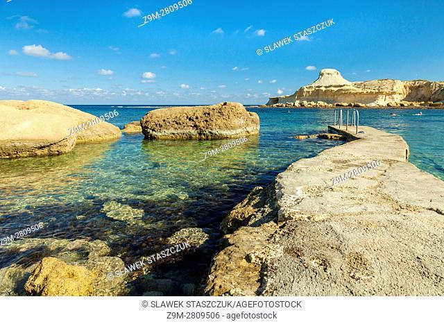 Xwejni Bay, Gozo, Malta