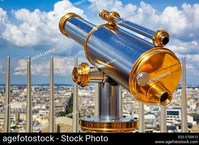 View from the Arc de Triomphe. Paris. France. Europe