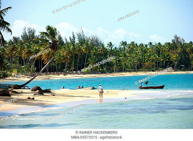The Dominican Republic, peninsula Samana, Las Terrenas, beach at the east