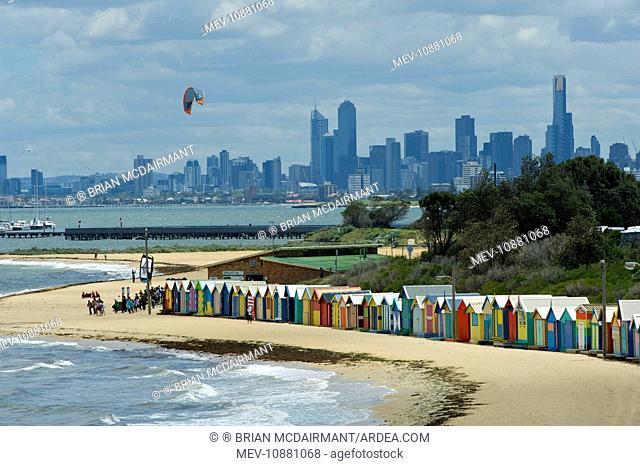 Brighton Beach Huts . St Kilda - Melbourne - Victoria