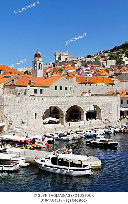 Dubrovnik old town harbour, Croatia