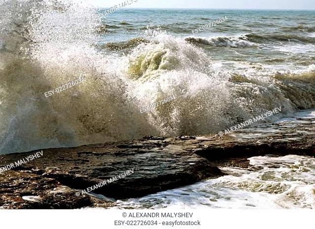 Storm on the Caspian Sea