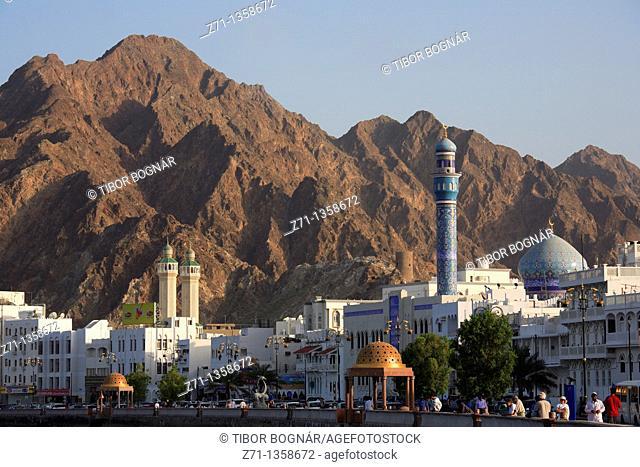 Oman, Muscat, Mutrah, Corniche, general view