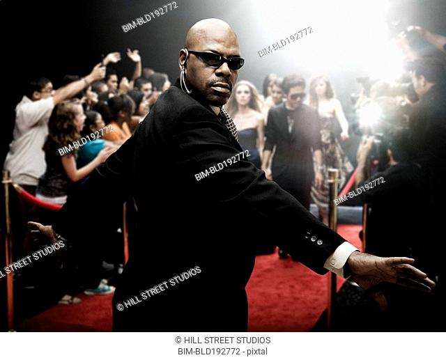 African security guard at red carpet event