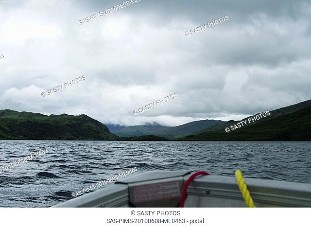 Boat in a lake, Lakes of Killarney, County Kerry, Republic of Ireland