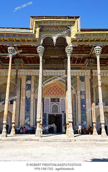 The Bolo-Hauz Mosque, Bukhara, Uzbekistan