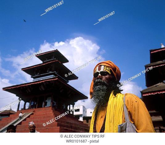 Nepal, Bhaktapur, Sadhu holy man
