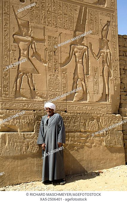 Local Man, Gateway of Euergetes II, Karnak Temple, Luxor, Egypt