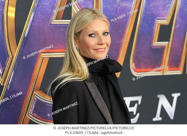 "Gwyneth Paltrow at The World Premiere of Marvel Studios' """"Avengers: Endgame"""" held at the Los Angeles Convention Center, Los Angeles, CA, April 22, 2019"