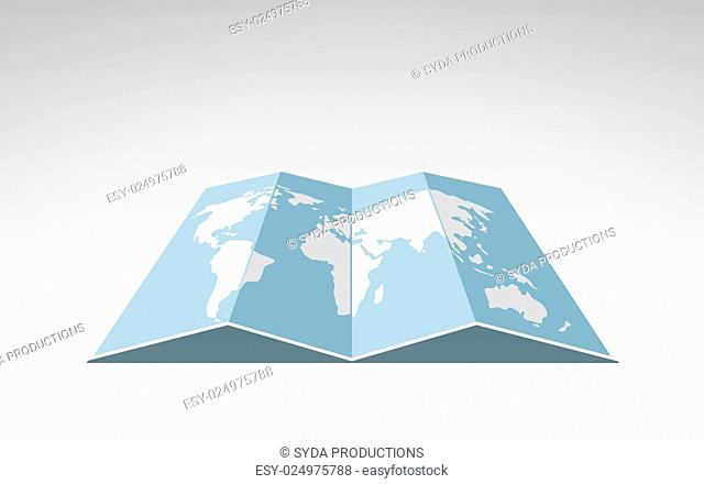 travel, cartography and geography concept - world map illustration