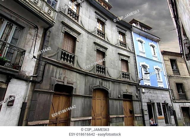 old houses of the old town in Cudillero, Spain, fishing village