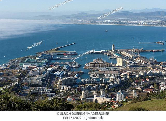 View of the V & A Waterfront and the old port, Cape Town, Western Cape, South Africa, Africa