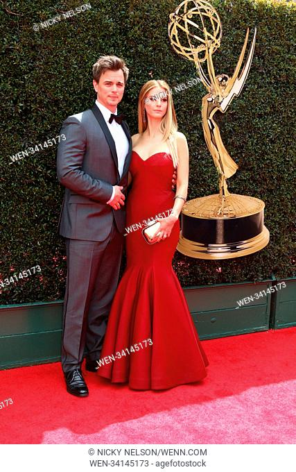 45th Annual Daytime Emmy Awards at Pasadena Civic Auditorium in Pasadena, California. Featuring: Darin Brooks, Kelly Kruger Where: Pasadena, California