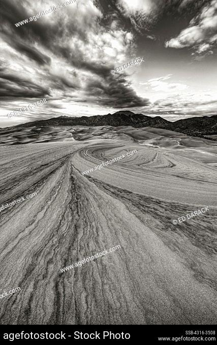 Interior landscape of the Great Sand Dunes, high dynamic range, or HDR image