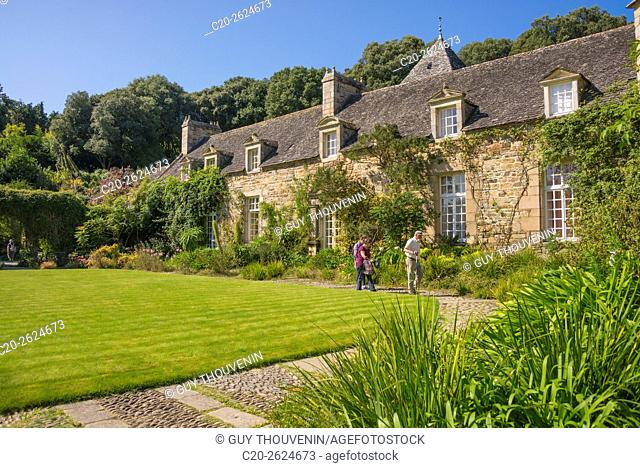 Kerdalo gardens and manor house,Cotes d'Armor, 22, Brittany, France