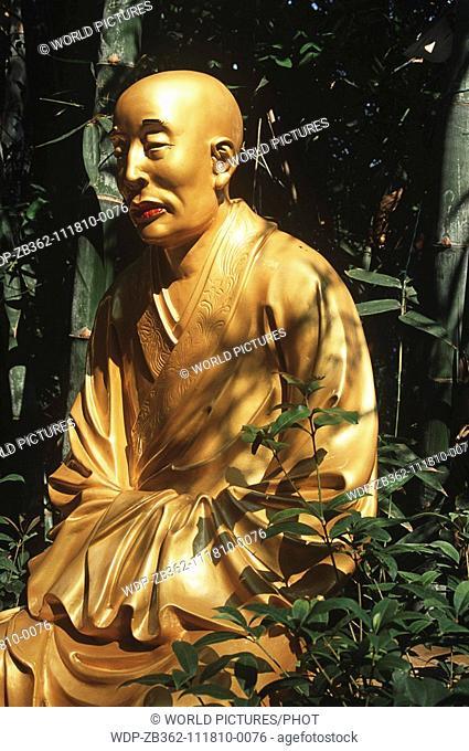 Statue, 10,000 Buddhas Monastery, Sha Tin, New Territories, Hong Kong, China Date: 02 04 2008 Ref: ZB362-111810-0076 COMPULSORY CREDIT: World Pictures/Photoshot