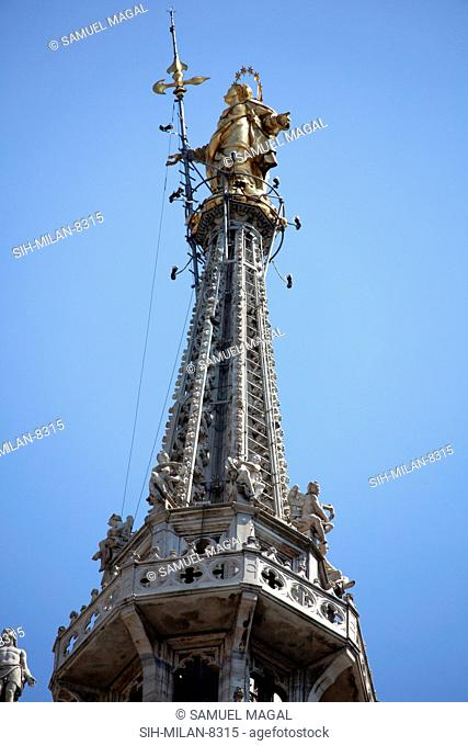 Spires- typical Gothic architectural structures, tapering and freestanding. In the Milan Cathedral more than 135 spires. They are very slender and with...