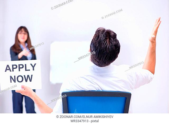 Business people in recruitment concept