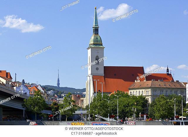 Bratislava, Slovak Republic, Slovakia, Bratislava, Capital City, Danube, Little Carpathians, St. Martins Cathedral, coronation church, catholic church, Gothic