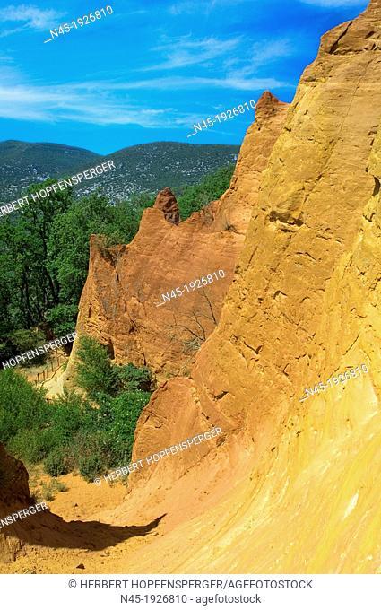 Ockre Rocks; Ocher Quarry; Cliffs; Colorado; Roussillon; Provence; France