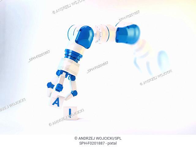 Robotic hand, illustration