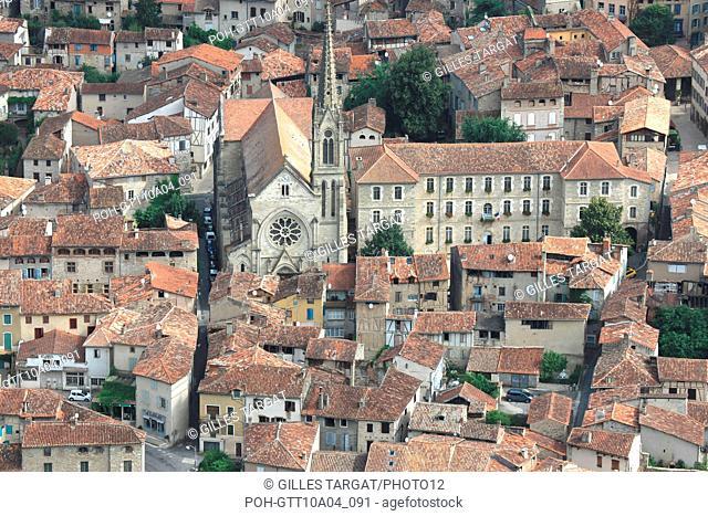 tourism, France, Region Midi Pyrenees, tarn et garonne, 82, gorges de l'Aveyron, SAINT ANTONIN NOBLE VAL, middle ages, old stones, patrimony, history, panorama