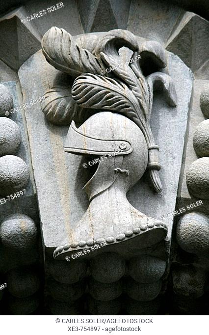 Detalle de portico del Palacio da Pena, Sintra, Portugal
