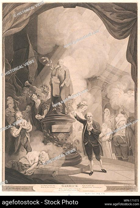 Garrick Speaking the Jubilee Ode. Engraver: Caroline Watson (British, London 1760/61-1814 London); Artist: after Robert Edge Pine (British