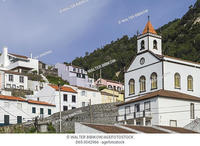 Portugal, Azores, Sao Miguel Island, Ribeira Quente, town church