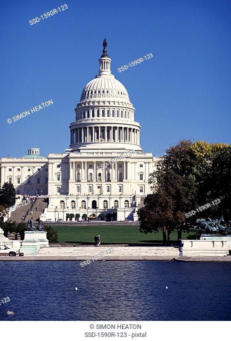 Facade of a government building, Capitol Building, Washington DC, USA