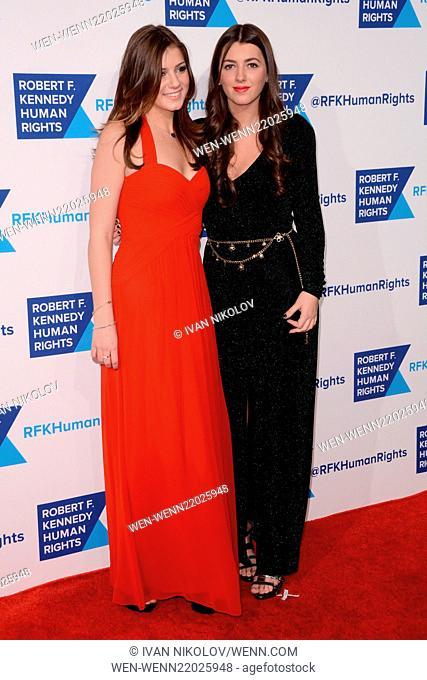 RFK Ripple Of Hope Gala - Red Carpet Arrivals Featuring: Michaela Kennedy Cuomo, Mariah Kennedy Cuomo Where: Manhattan, New York