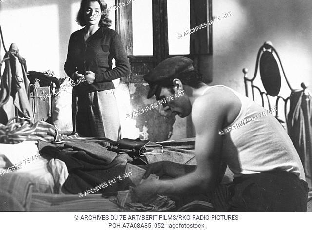 Stromboli  Year: 1950 Italy / USA Ingrid Bergman, Mario Vitale  Director: Roberto Rossellini Photo: G.B. Poletto. It is forbidden to reproduce the photograph...