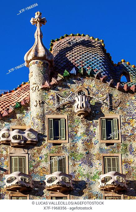 Casa Batllo (Batllo House) by Antonio Gaudi, Barcelona, Spain