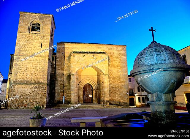San Nicolas square: church of San Nicolas, Plasencia, Caceres, Spain