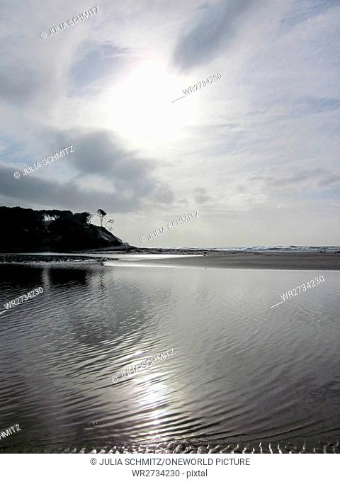South Africa, East Cape, Transkei District, Silent Lake at the Wild Coast, On the Wild Coast at Coffee Bay on the Hole in the Wall Trail