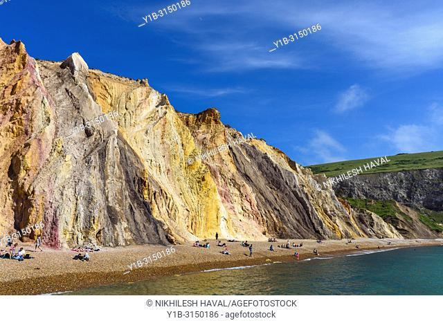 Alum Bay sands, Isle of Wight, UK