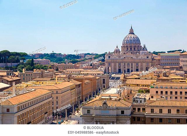 Basilica of St. Peter in a summer day in Vatican