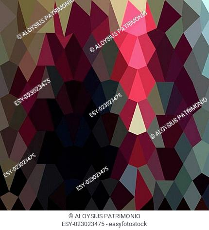 Burgundy Abstract Low Polygon Background