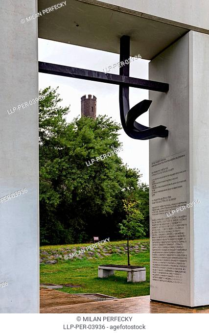 Monument in memory of people displaced from their homeland, Bratislava, Slovakia